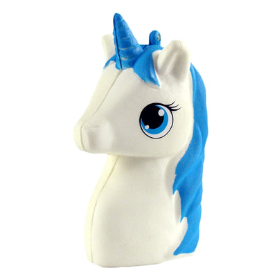 Lovely White/Blue Scented Unicorn (Slow Rising Squeeze Toy) at https://myunicornfarm.com
