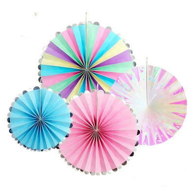 Unicorn Rainbow Colorful Party Fans