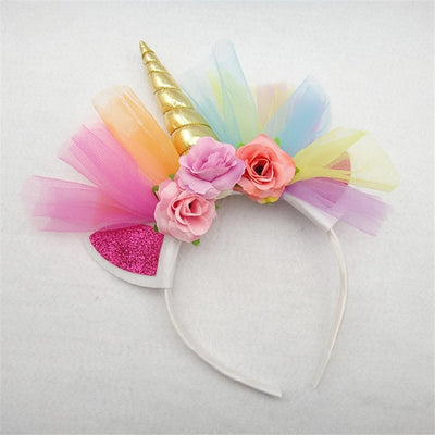 * Unicorn Headband Large Flowers