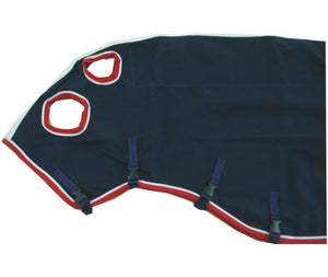 Capriole Deluxe Navy Cotton Show Set -Red & White Trim
