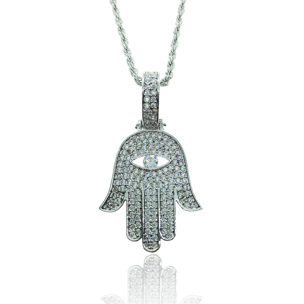 WHITE GOLD HAMSA - The Shine club