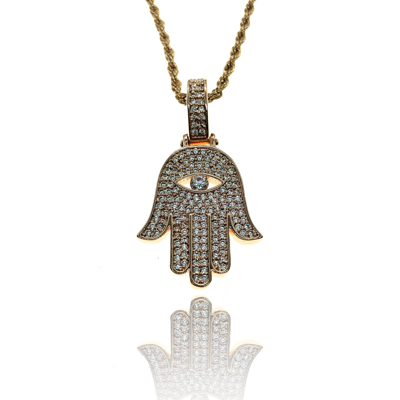 ROSE GOLD HAMSA - The Shine club