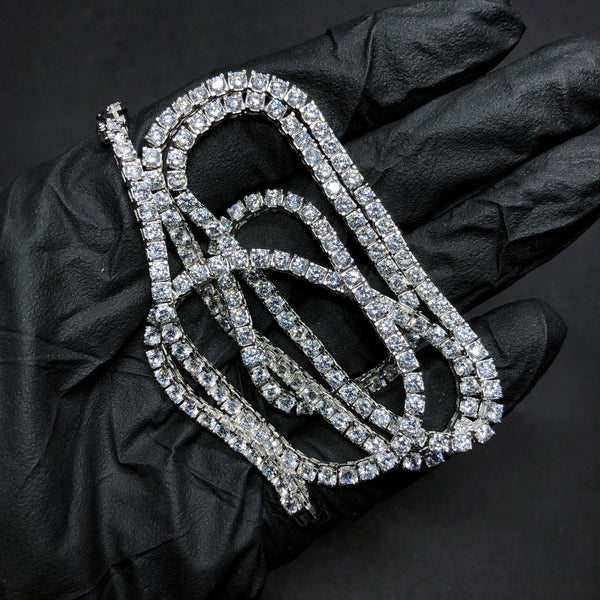 WHITE GOLD TENNIS CHAIN [3MM] - The Shine club