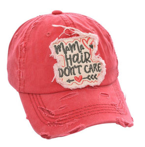 MaMa Hair Don't Care Hat (coral)