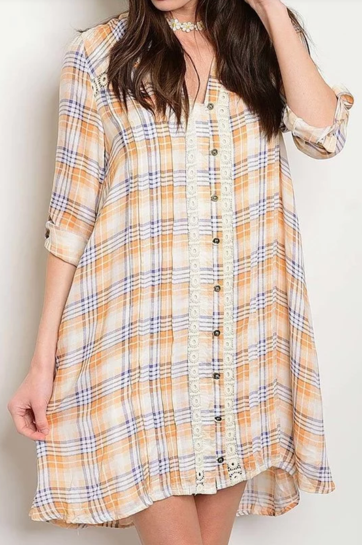Plaid Shirt Dress (ON SALE)
