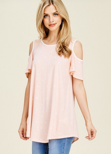 Blush Polka Dot Tunic (ON SALE)