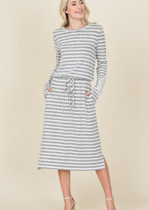Buttery Soft Stripe Dress
