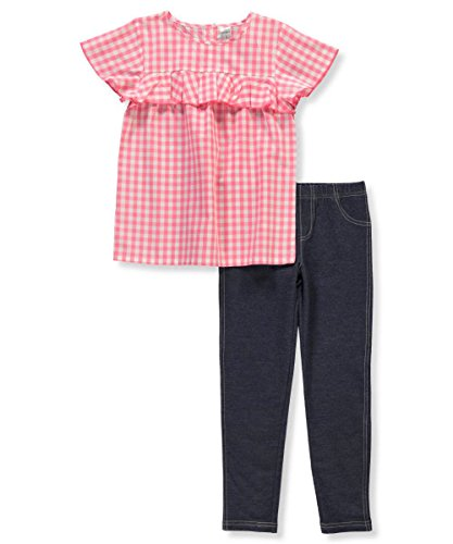 Carter's Girls' 4-8 Short Sleeve Gingham Top and Jeggings Set 4/5