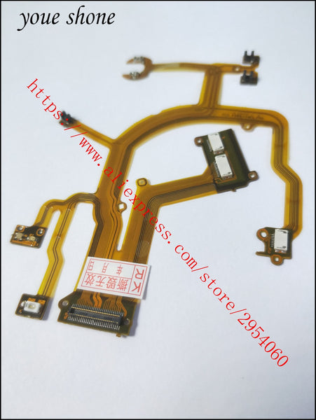 100%NEW Lens Main Flex Cable For Canon PowerShot G10 G11 G12 Digital Camera Repair Part (With Socket)