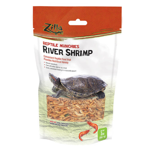 Zilla Reptile Munchies River Shrimp, 2oz