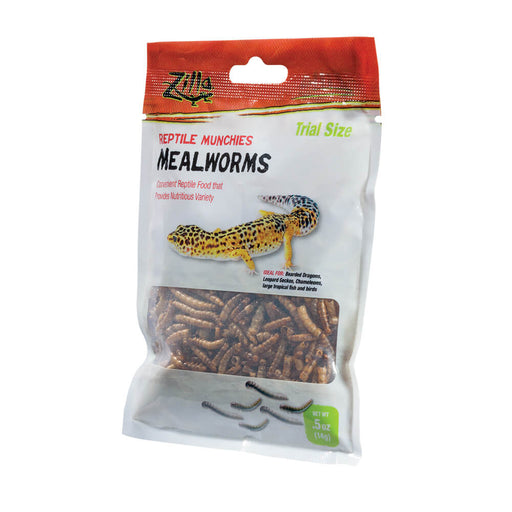 Zilla Reptile Munchies Mealworms, 0.5oz