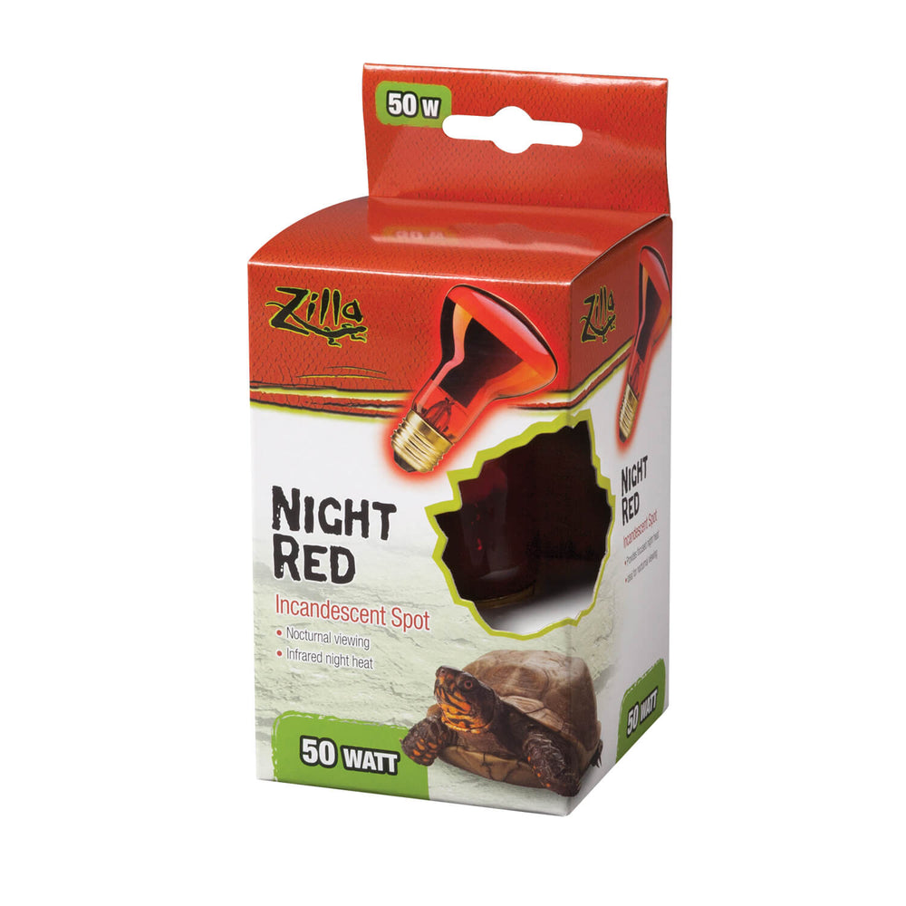 Zilla Night Red Incandescent Spot Bulb, 50w