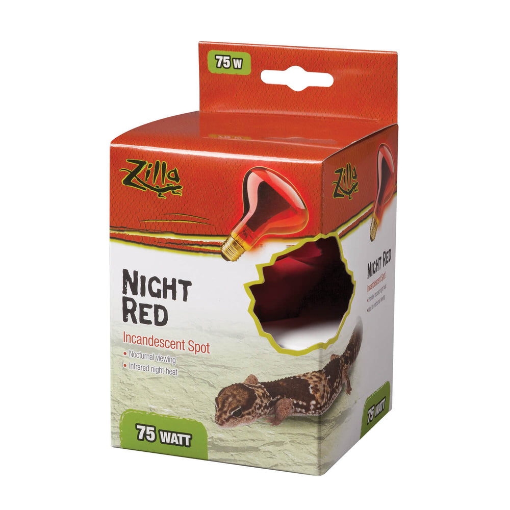 Zilla Incandescent Spot Bulbs (Night Red) 75W