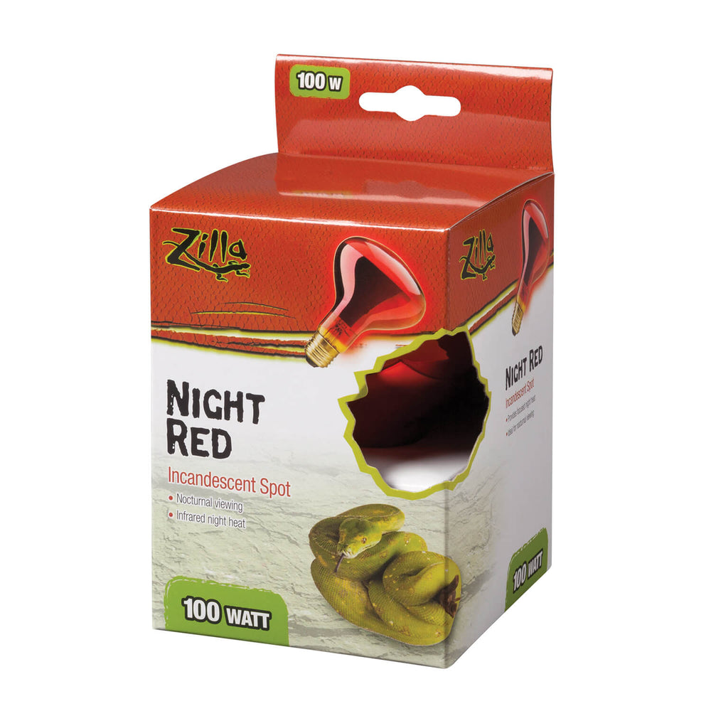 Zilla Incandescent Spot Bulbs (Night Red) 100W