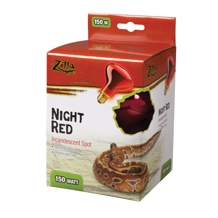 Zilla Night Red Incandescent Spot Bulb, 150w