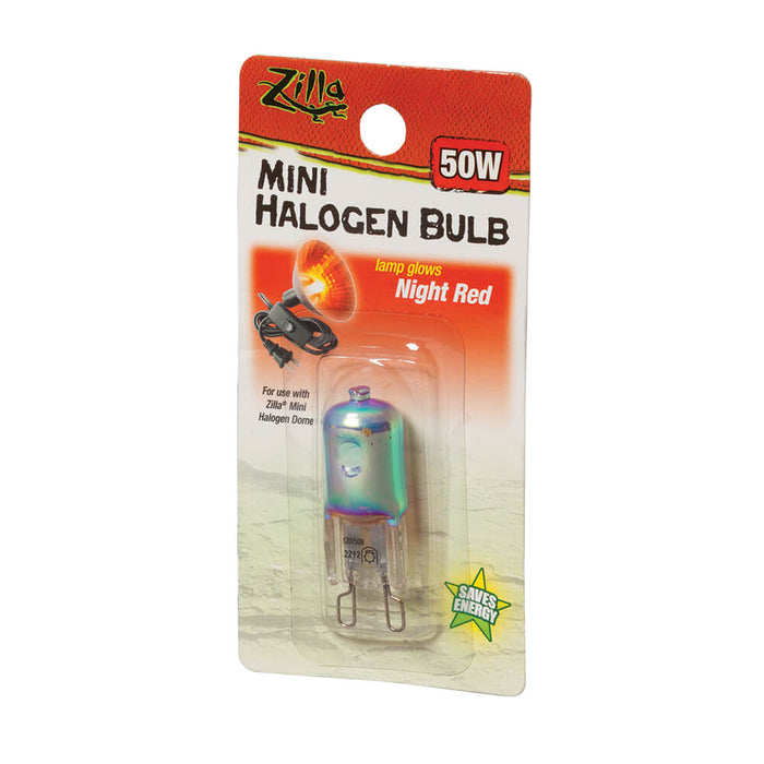 Zilla Mini Halogen Bulbs (Night Red) 50W