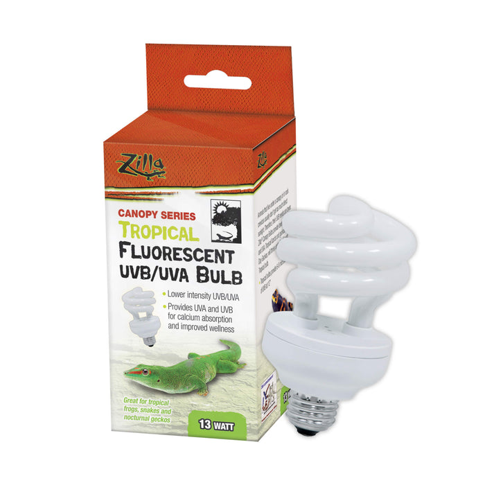 Zilla Canopy Series Fluorescent UVB/UVA Bulbs Tropical