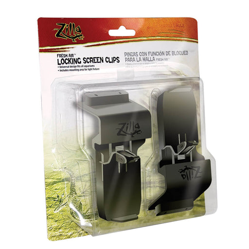 Zilla Black Locking Screen Clips