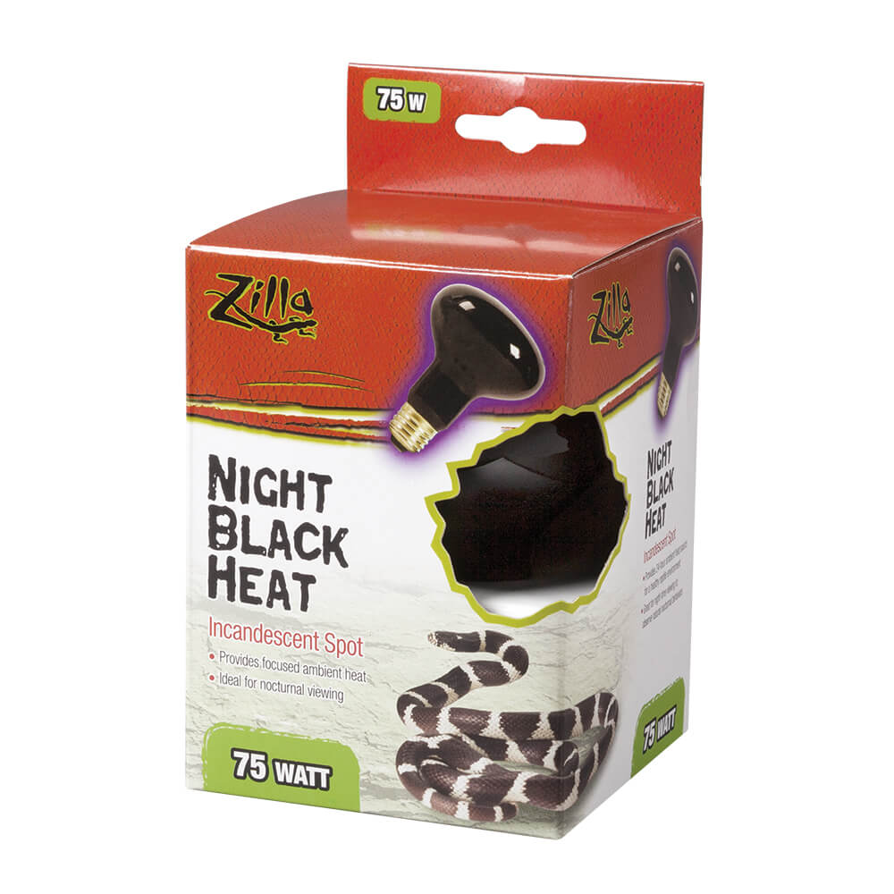 Zilla Night Black Incandescent Spot Bulb, 75w