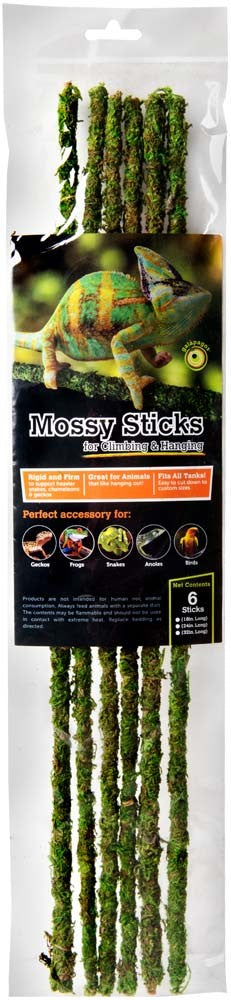 "Galapagos Mossy Sticks, 18"" (6 pack)"