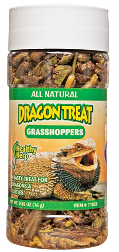 Healthy Herp Dragon Treat Grasshoppers 0.56oz