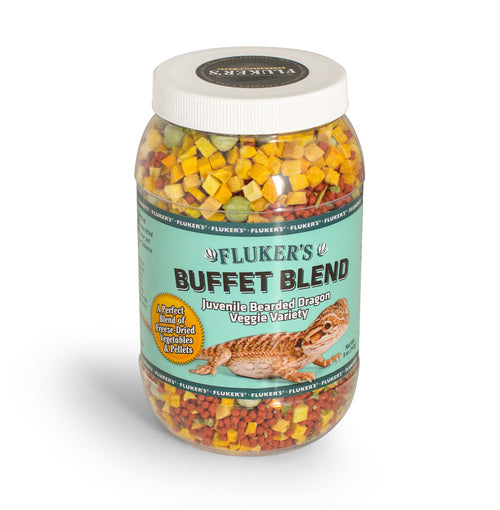 Fluker's Buffet Blend for Juvenile Bearded Dragons - Veggie Variety, 5oz