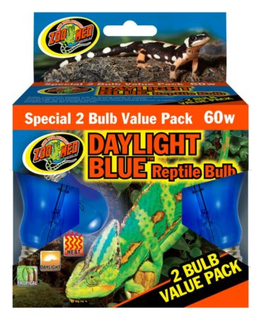 Zoo Med Daylight Blue Reptile Bulb, 60w (2 pack)
