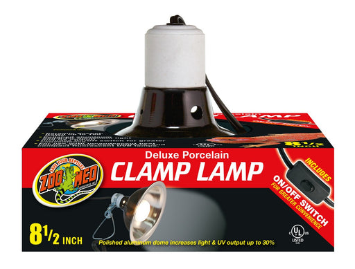Zoo Med Deluxe Porcelain Clamp Lamp, 8.5""