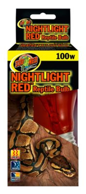 Zoo Med Nightlight Red Reptile Bulb, 100w