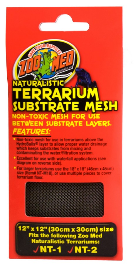 "Zoo Med Naturalistic Terrarium® Substrate Mesh 12""x12"""