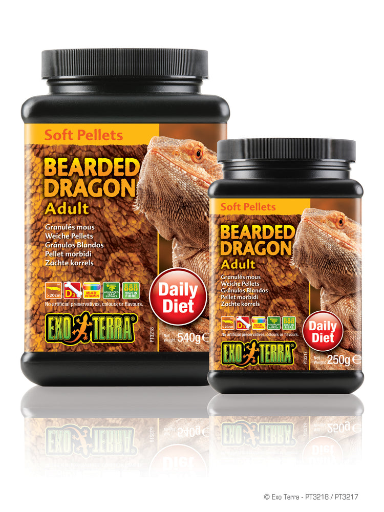 Exo Terra Adult Bearded Dragon Food - Soft Pellets, 8.8oz