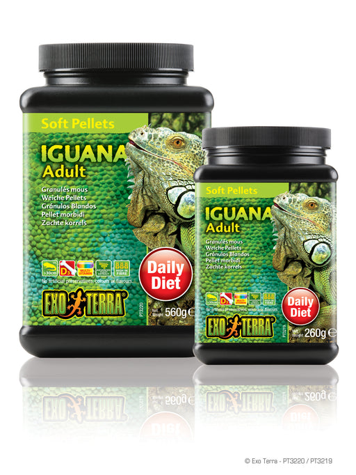 Exo Terra Adult Iguana Food - Soft Pellets, 9.1oz