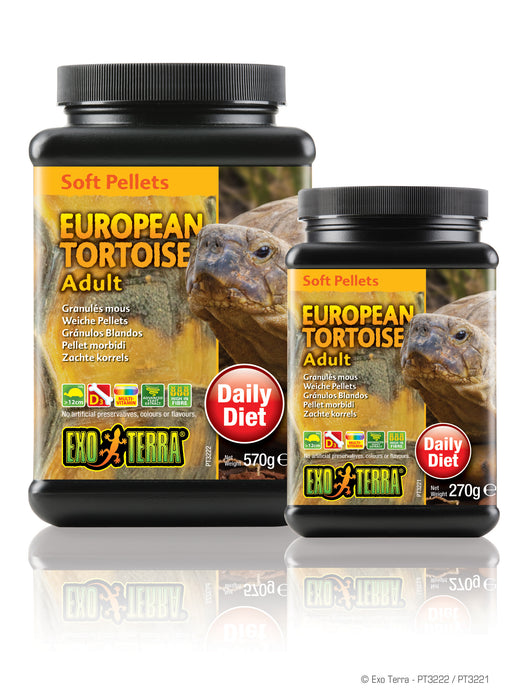 Exo Terra Soft Pellets Adult European Tortoise 9.5oz