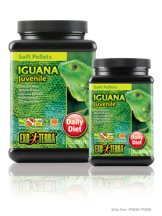 Exo Terra Juvenile Iguana Food - Soft Pellets, 18.3oz