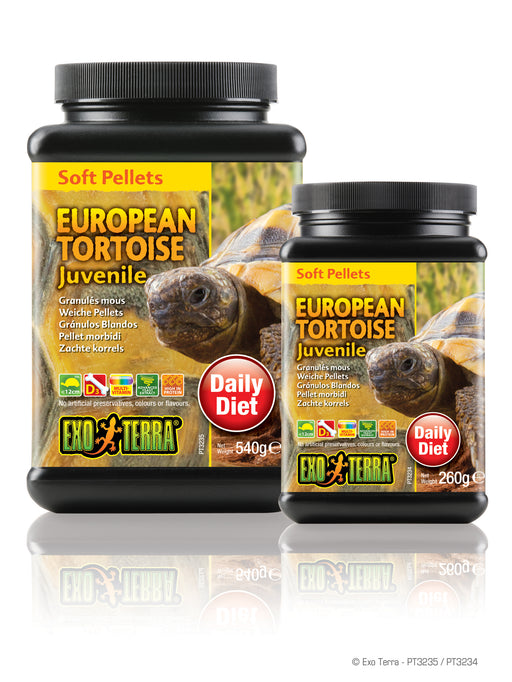 Exo Terra Juvenile European Tortoise Food - Soft Pellets, 9.1oz