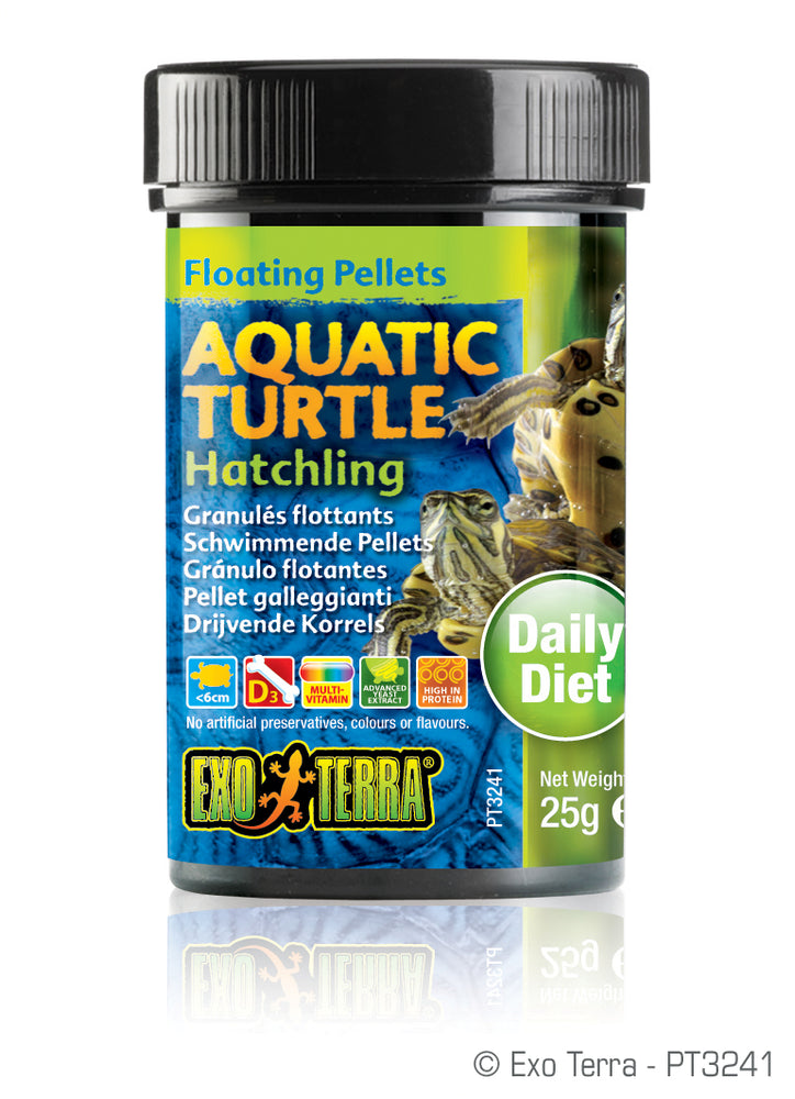 Exo Terra Aquatic Turtle Hatchling Formula Floating Pellets, 0.8oz