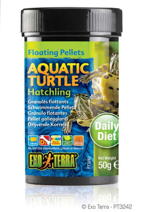 Exo Terra Aquatic Turtle Hatchling Formula Floating Pellets, 1.7oz