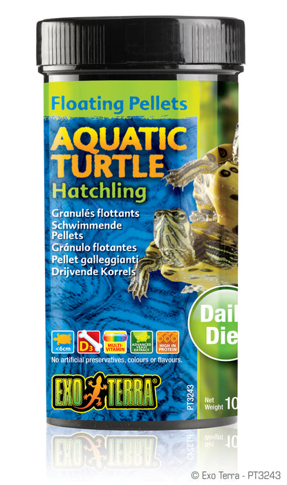Exo Terra Aquatic Turtle Hatchling Formula Floating Pellets, 3.7oz