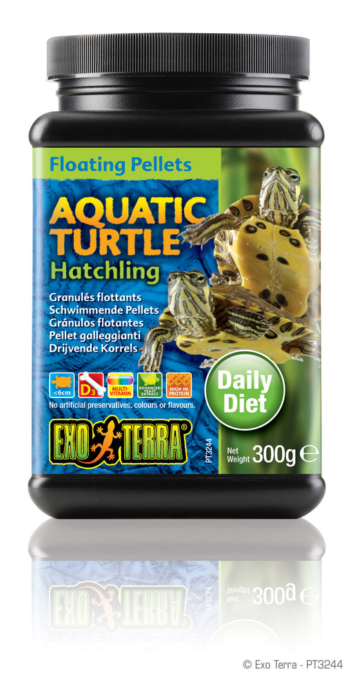 Exo Terra Aquatic Turtle Hatchling Formula Floating Pellets, 10.5oz