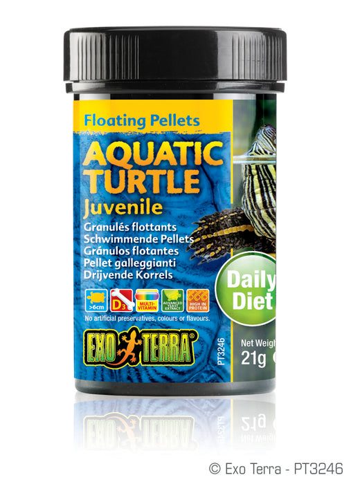 Exo Terra Aquatic Turtle Juvenile Formula Floating Pellets, 0.7oz