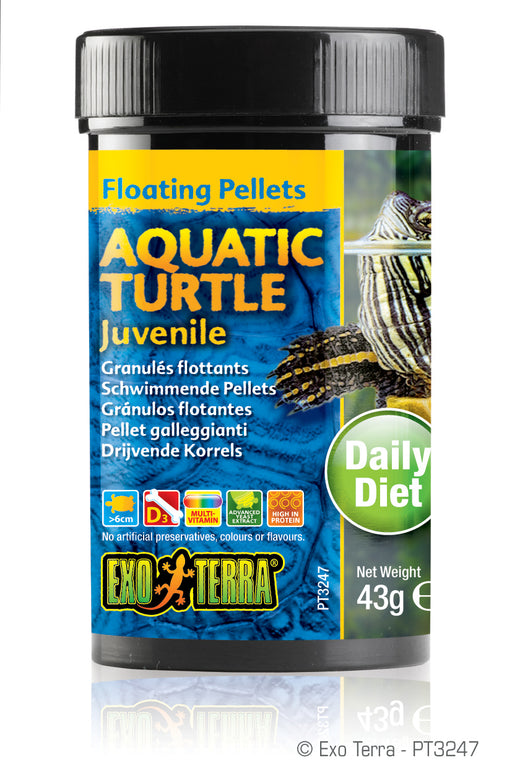 Exo Terra Aquatic Turtle Juvenile Formula Floating Pellets, 1.5oz