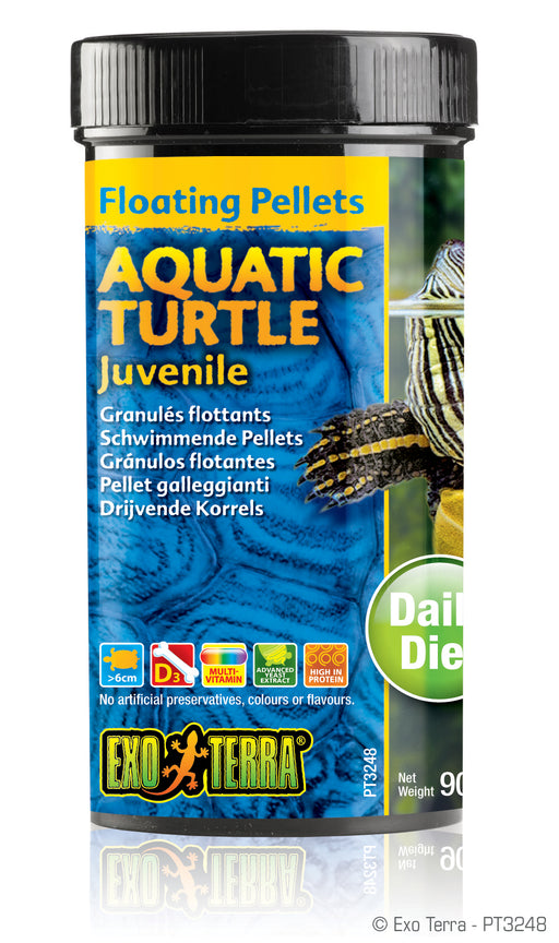 Exo Terra Aquatic Turtle Juvenile Formula Floating Pellets, 3.1oz