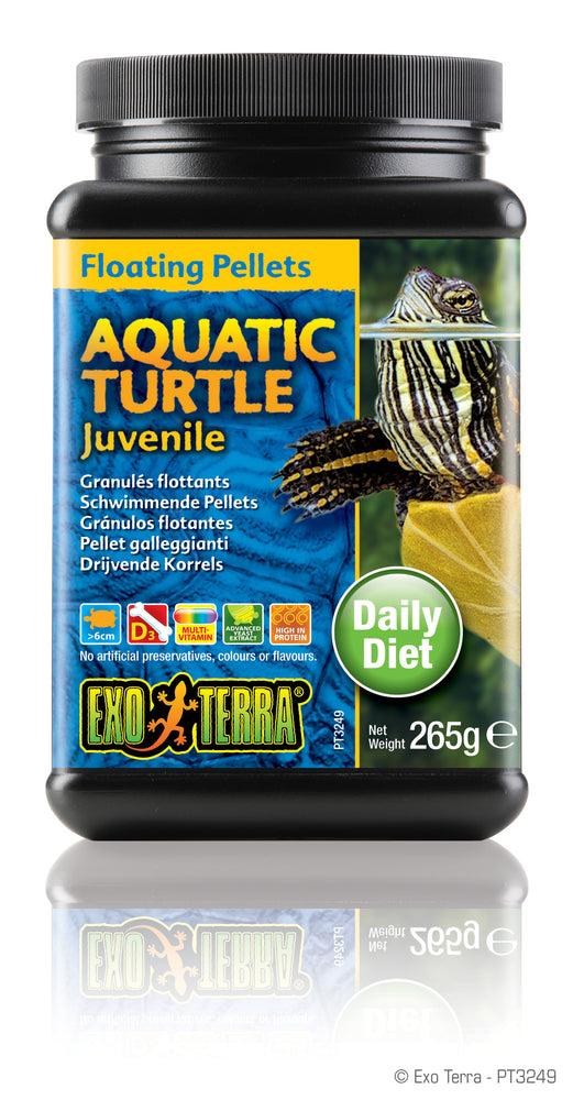 Exo Terra Aquatic Turtle Juvenile Formula Floating Pellets, 9.3oz