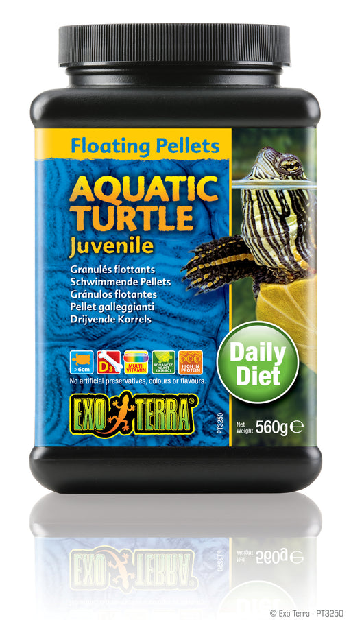 Exo Terra Aquatic Turtle Juvenile Formula Floating Pellets, 19.7oz