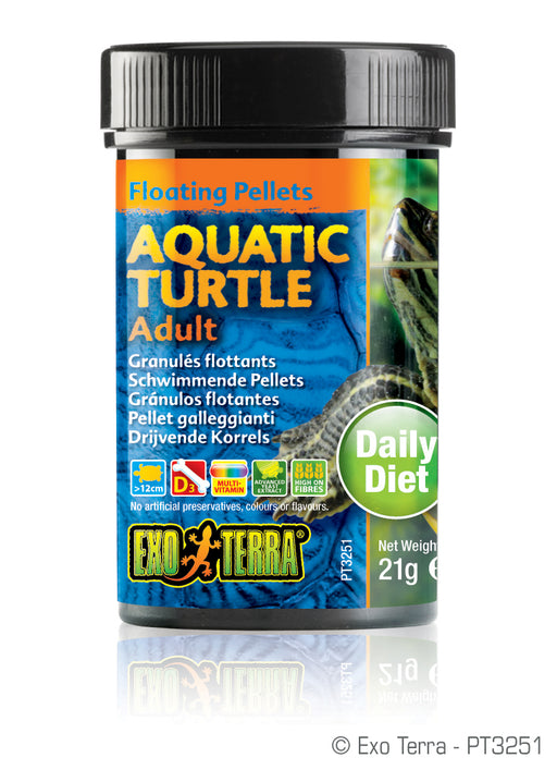 Exo Terra Aquatic Turtle Adult Formula Floating Pellets, 0.7oz