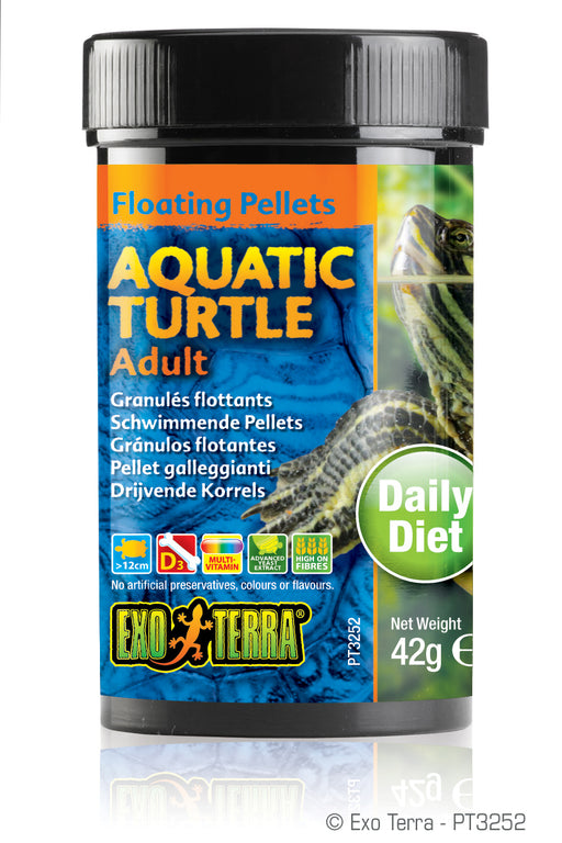 Exo Terra Aquatic Turtle Adult Formula Floating Pellets, 1.4oz