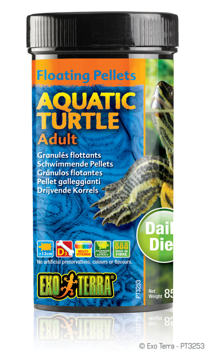 Exo Terra Aquatic Turtle Adult Formula Floating Pellets, 2.9oz