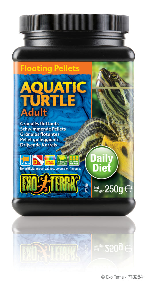 Exo Terra Aquatic Turtle Adult Formula Floating Pellets, 8.8oz