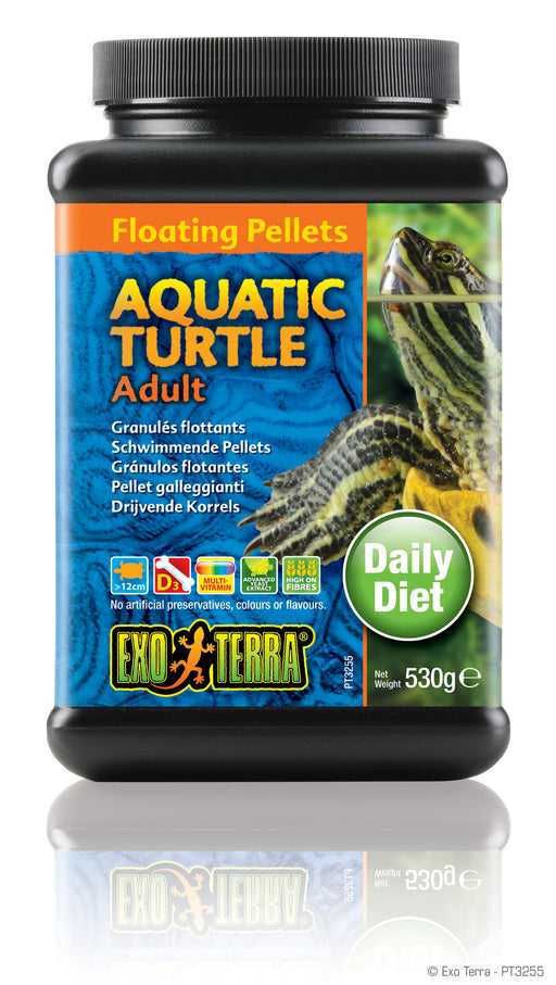 Exo Terra Aquatic Turtle Adult Formula Floating Pellets, 18.6oz