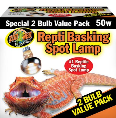 Zoo Med Repti Basking Spot Lamp, 50w (2 pack)